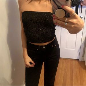 Sparkly tube top